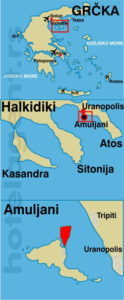 Grcka Amuliani Ostrvo Mapa 124x300 1 Turisticka Agencija