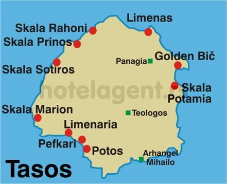 tasos mapa grcka tasos mapa mesta   Magelan turistička agencija Novi Sad tasos mapa
