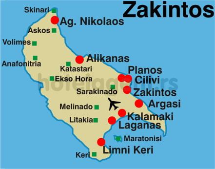 mapa grcke zakintos Sve destinacije u Grčkoj   pregled smeštaja po destinacijama   Magelan mapa grcke zakintos